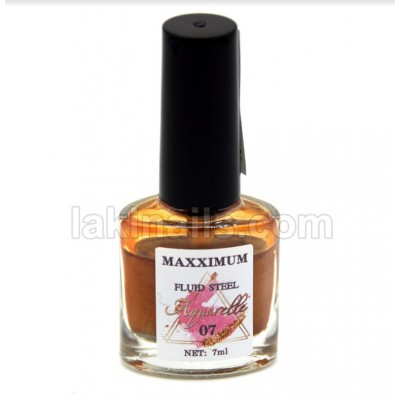 Акварельные капли хром MaXXimuM для дизайна ногтей, золото