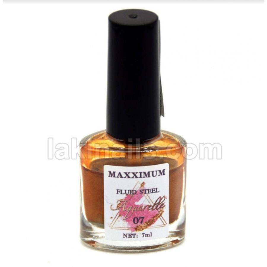 Акварельні краплі хром MaXXimuM для дизайну нігтів, золото