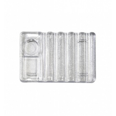 Підставка-палітра пластикова для кистей, прозора