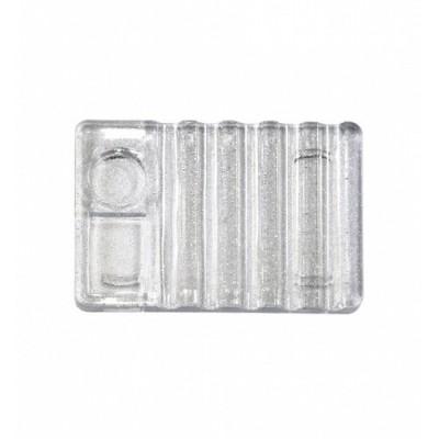 Подставка-палитра пластиковая для кистей, прозрачная