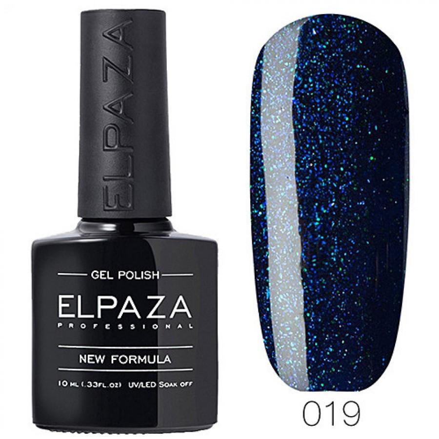 Гель-лак ELPAZA Classic №019 Зоряне небо, темно-синій з шіммери