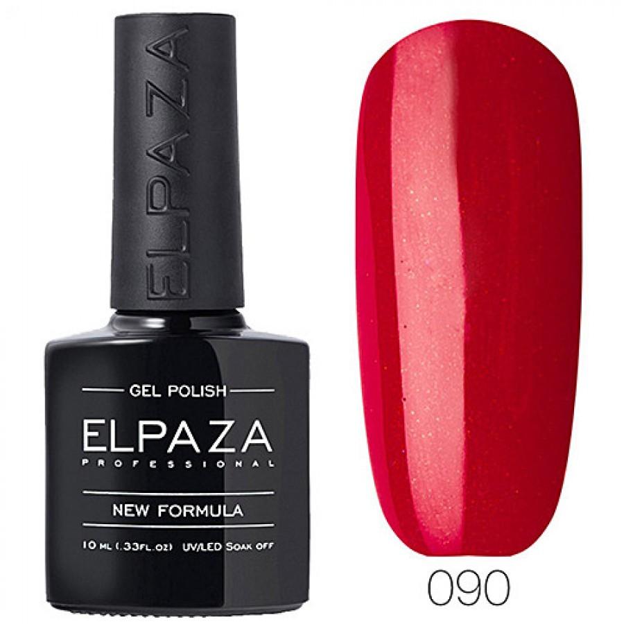 Гель-лак ELPAZA Classic №090 Голлівуд, червоний з мерехтінням