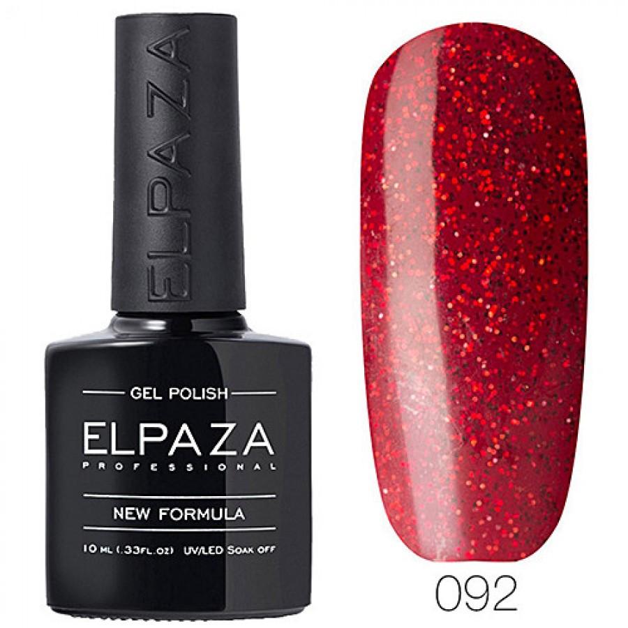 Гель-лак ELPAZA Classic №092 Рубиновый блеск, красный с блестками