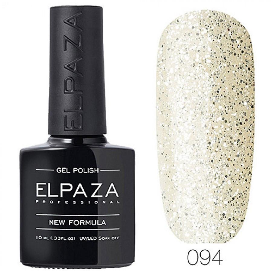 Гель-лак ELPAZA Classic №094 Срібний дощ, блискітки