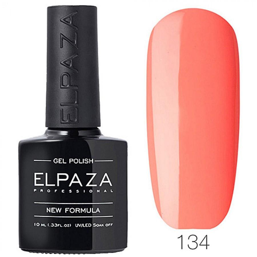 Гель-лак ELPAZA Classic №134 Лососевый, светло-оранжевый