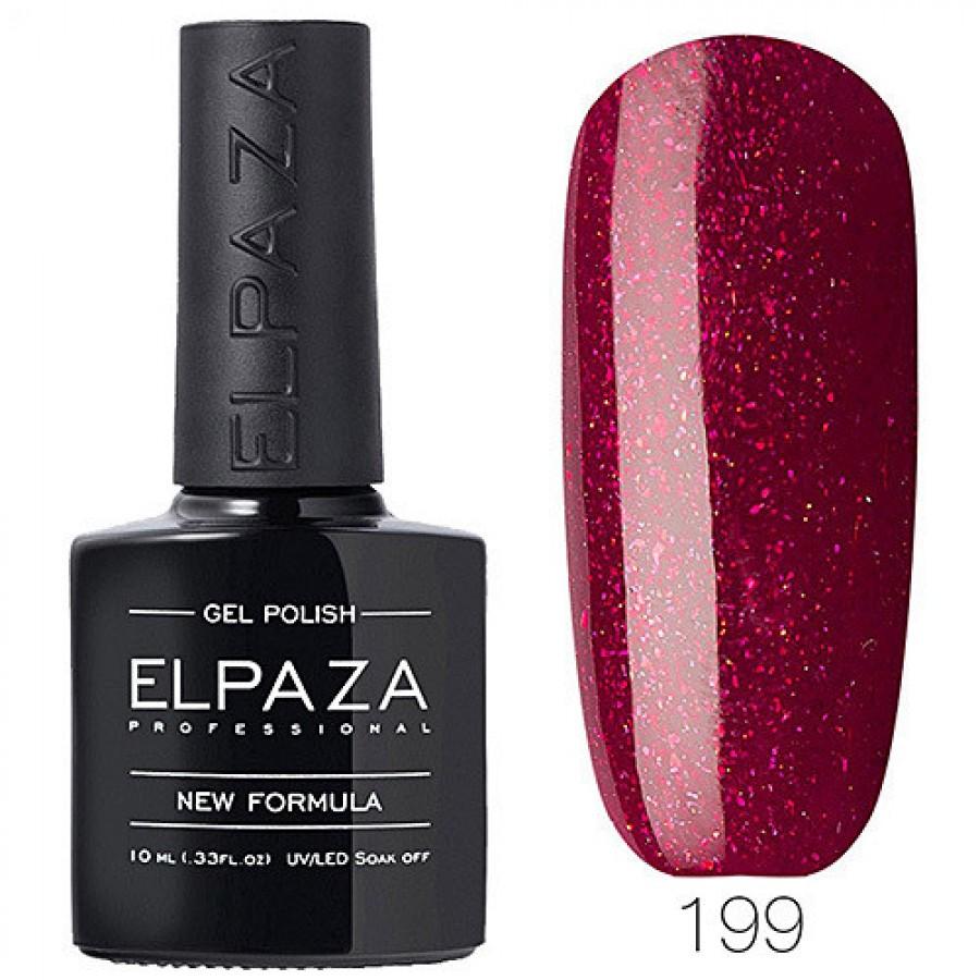 Гель-лак ELPAZA Classic №199 Красный бархат, красный с блестками