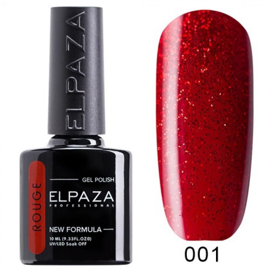 Гель-лак ELPAZA Rouge №01 Стрела Амура, красный с красными блестками