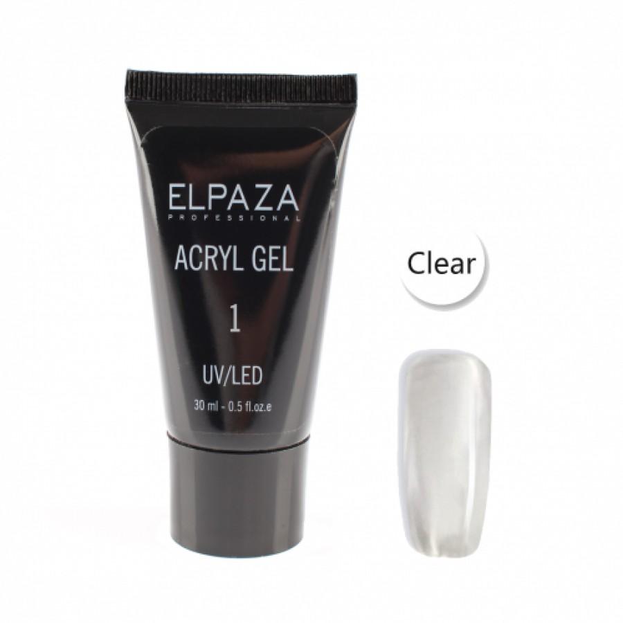 Акрілгель полігель  ELPAZA Acryl gel №1, 30 ml, прозорий