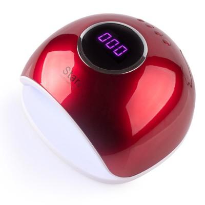 Сенсорная гибридная лампа Star 5 UV LED 48 W, красная