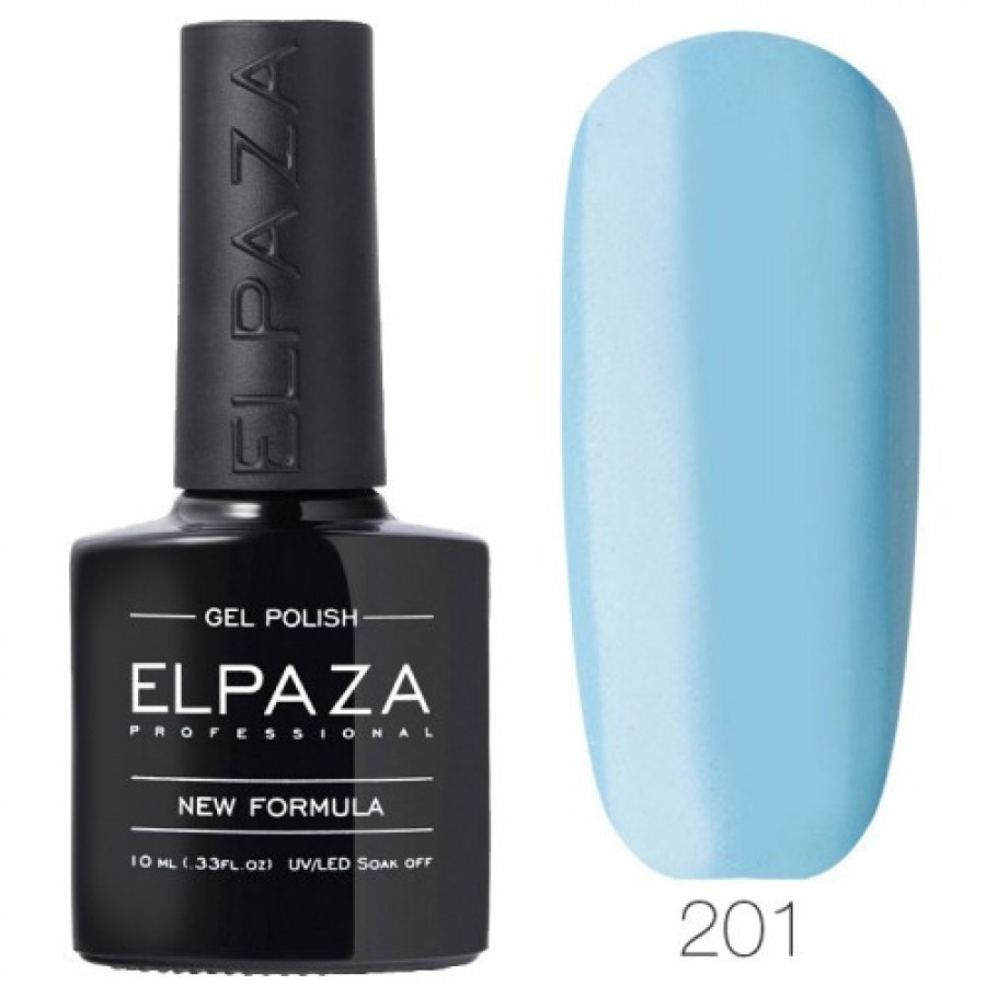Гель-лак ELPAZA Classic №201 Лазурна гавань, блакитний