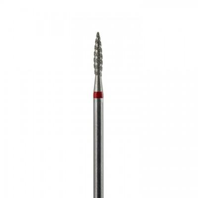 Алмазная насадка (бор) для фрезера пламя безопасное, торнадо, красный 1,8 мм