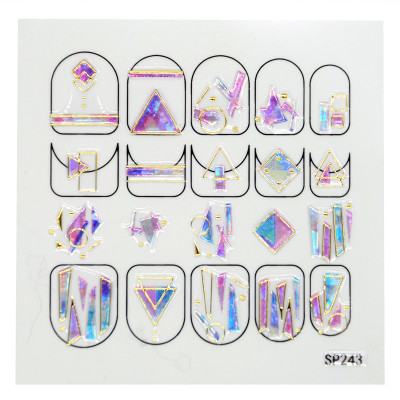 Силиконовые гибкие наклейки 3D с камнями для дизайна ногтей SP-243