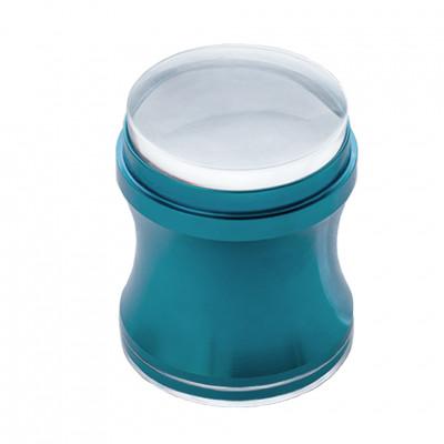 Силіконовий штамп для стемпинга із скрапером, синій