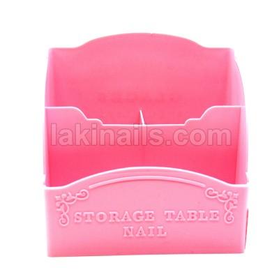 Подставка пластиковая для кистей, инструментов, розовая