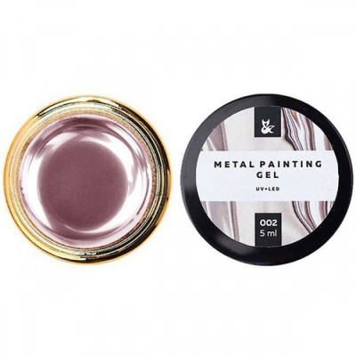 Металлическая гель-краска FOX Metal painting gel 02, розовая