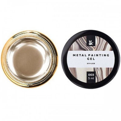 Металлическая гель-краска FOX Metal painting gel 03, золотая