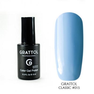 Гель-лак Grattol Color Gel Polish Ваву Blue 015, 9 мл