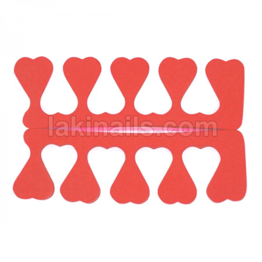 Разделитель (растопырка) для педикюра, красный