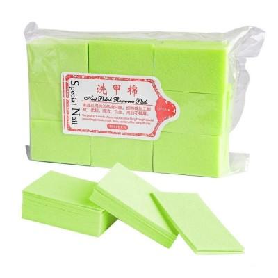 Безворсовые салфетки для маникюра, 900 шт, зеленые