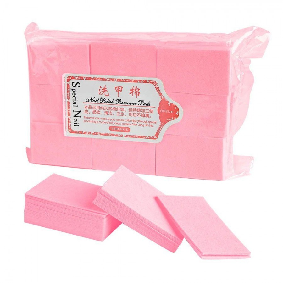 Безворсовиє серветки для манікюру, 900 шт, рожеві