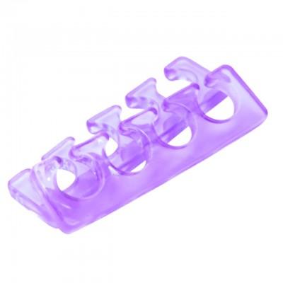 Разделитель (растопырка) для педикюра силиконовый, сиреневый