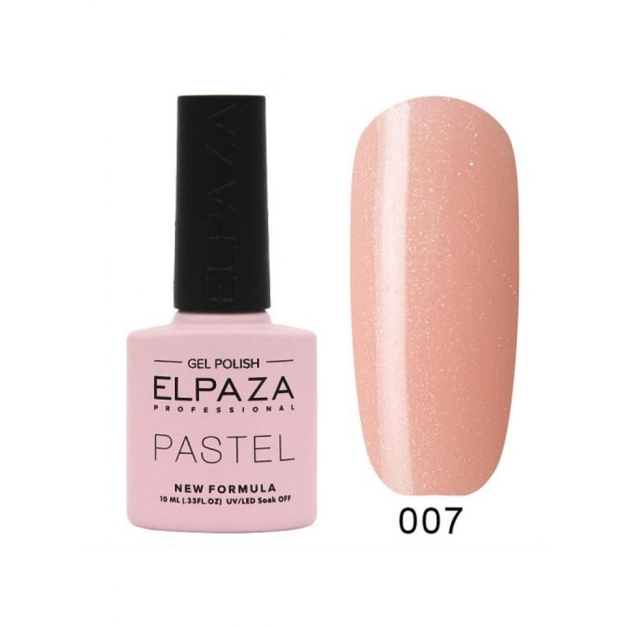 Гель-лак ELPAZA Pastel №007, Валенсія, рожевий з блискітками