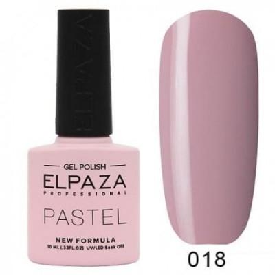 Гель-лак ELPAZA Pastel №018, розовый