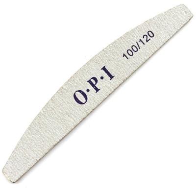 Пилка для ногтей OPI, полукруг, 100/120