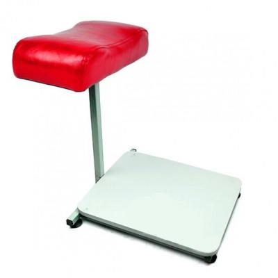 Підставка для ніг регульована з підставкою для ванночки, червона