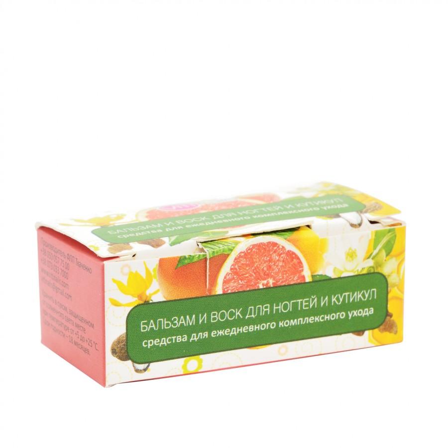Бальзам и воск для ногтей и кутикулы VitiNails, мандарин+корица и лимон+кедр, 2*6мл