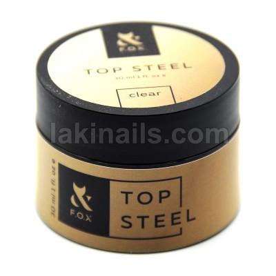 Топ без липкого слоя суперблеск FOX Top Steel, банка, 30 мл