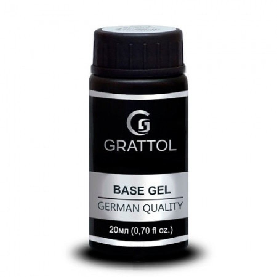 Гипоаллергенная каучуковая база Grattol IQ Rubber Base Gel, 20 мл