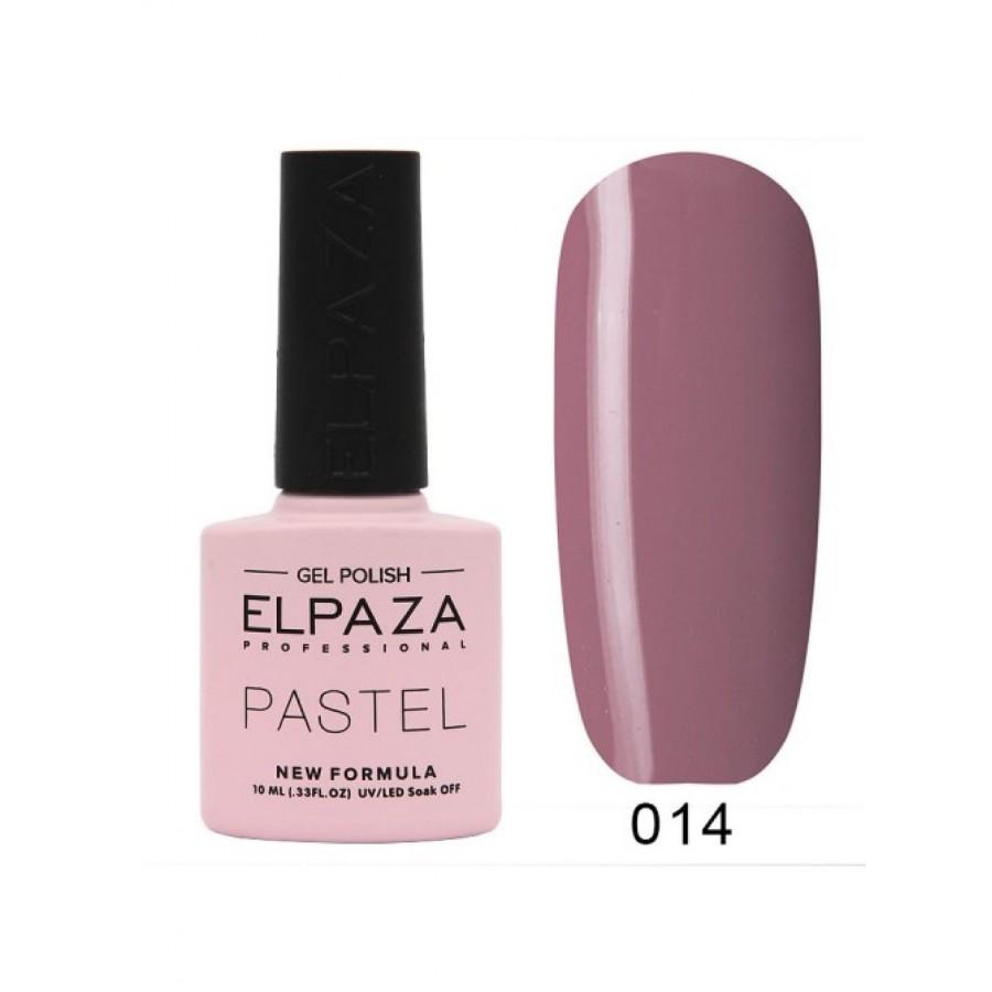 Гель-лак ELPAZA Pastel №014, Фондан, темный розовый