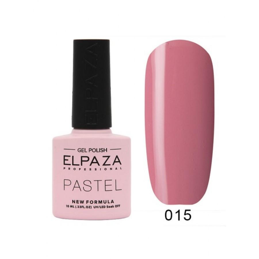 Гель-лак ELPAZA Pastel №015, Барселона, пыльно-розовый