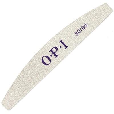 Пилка для ногтей OPI, полукруг, 80/80