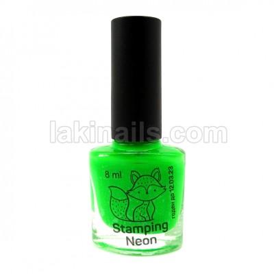 Лак для стемпинга SAGA серия NEON, зеленый, 10 мл
