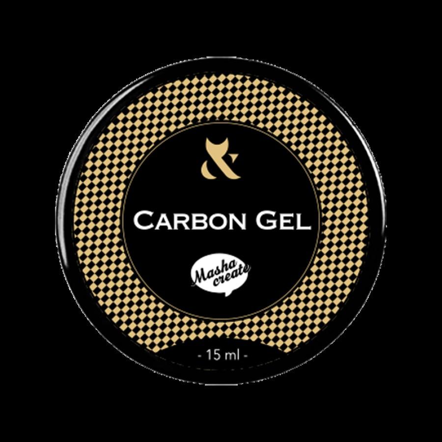 Гель для ремонта ногтей FOX Carbon gel, 15 ml
