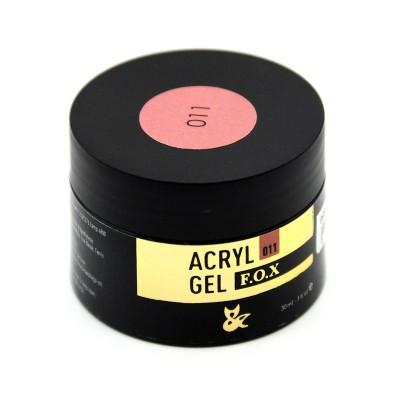 Акрилгель F.O.X Acryl gel 011, 30 ml(банка), розово-бежевый