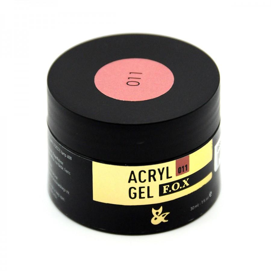 Акрилгель  FOX Acryl gel 011, 30 ml (банка), рожево-бежевий