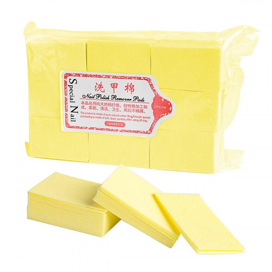 Безворсовые салфетки для маникюра, 900 шт, желтые