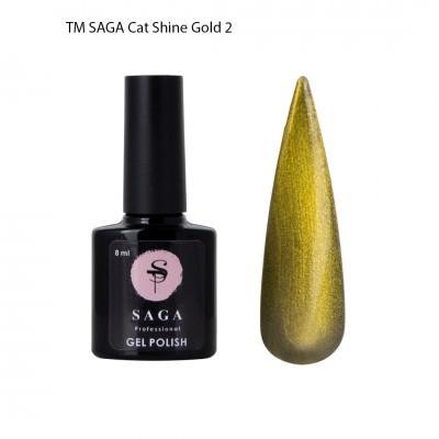 Гель-лакSAGACatShineGold,золото, 8мл