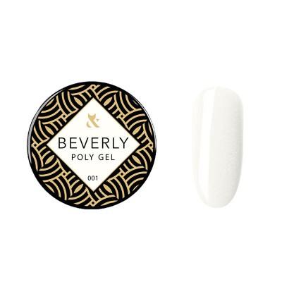 Акрилгель F.O.X Beverly 001, 30 ml(банка), белый с шиммером