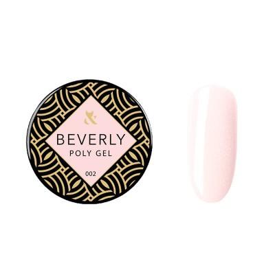 Акрилгель F.O.X Beverly 002, 30 ml(банка), светло-розовый с шиммером