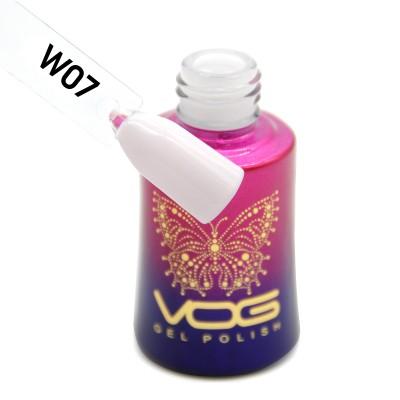 Гель-лак VOG W-07, молочно-розовый, 12 мл