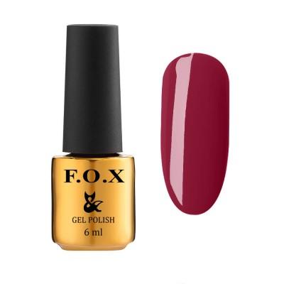 Гель-лак FOXEuphoria606,темнийяскраво-червоний, 6мл