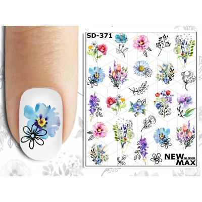SD-371 Слайдер дизайн NEW MAX, цветы