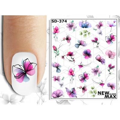 SD-374 Слайдер дизайн NEW MAX, цветы