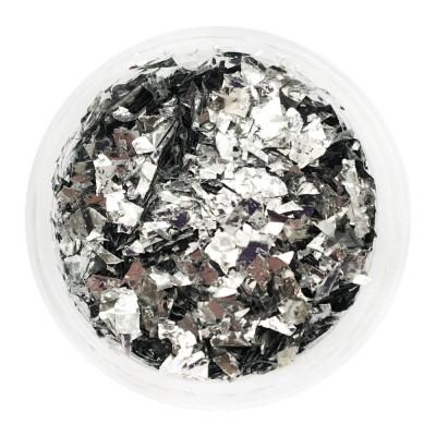 Фольга поталь, серебро, банка