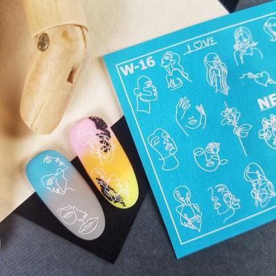 W-16 Слайдер-дизайн NEW MAX абстракция (лица)