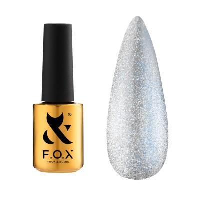 Хрустальная кошка FOX gel-polish gold Deja Vu Cat Eye 002, 7 мл